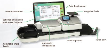 Francotype Postalia Postbase Mailing machine, competitive machine to Neopost and Pitney Bowes postage meters