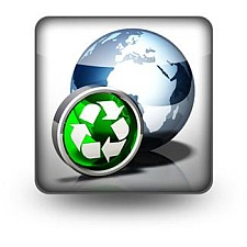 World with environment logo