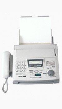 Picture of an office fax machine