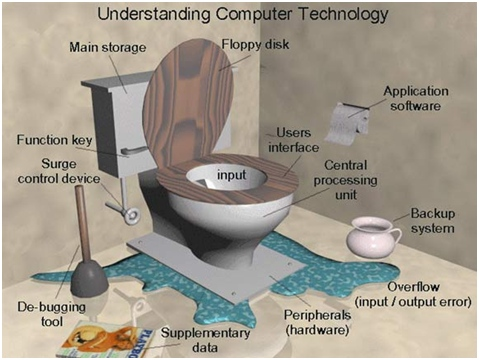 IT Network Systems  Are Like Toilets (Graphic)
