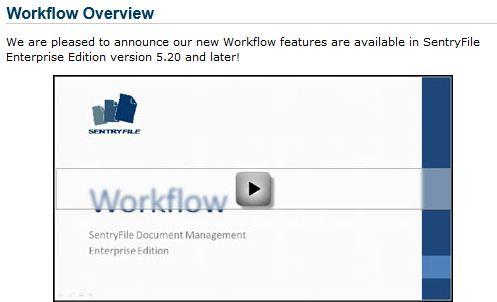 SentryFile Workflow Introductory Video