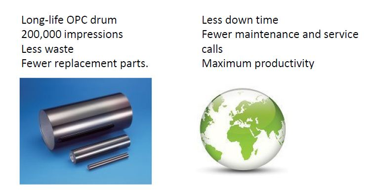 TA2550ci Environmental Features and Long Life Drum