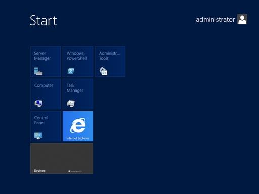 Windows Server 2012 Screen