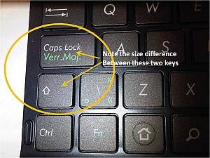 Tablet Keyboard Size of Keys