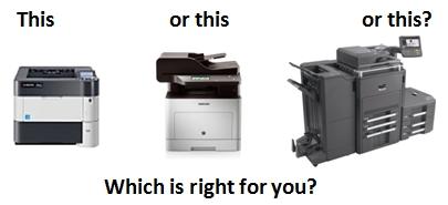 Printer, Small MFP or Production MFP