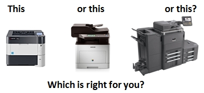 Printer, Small MFP or Production MFP