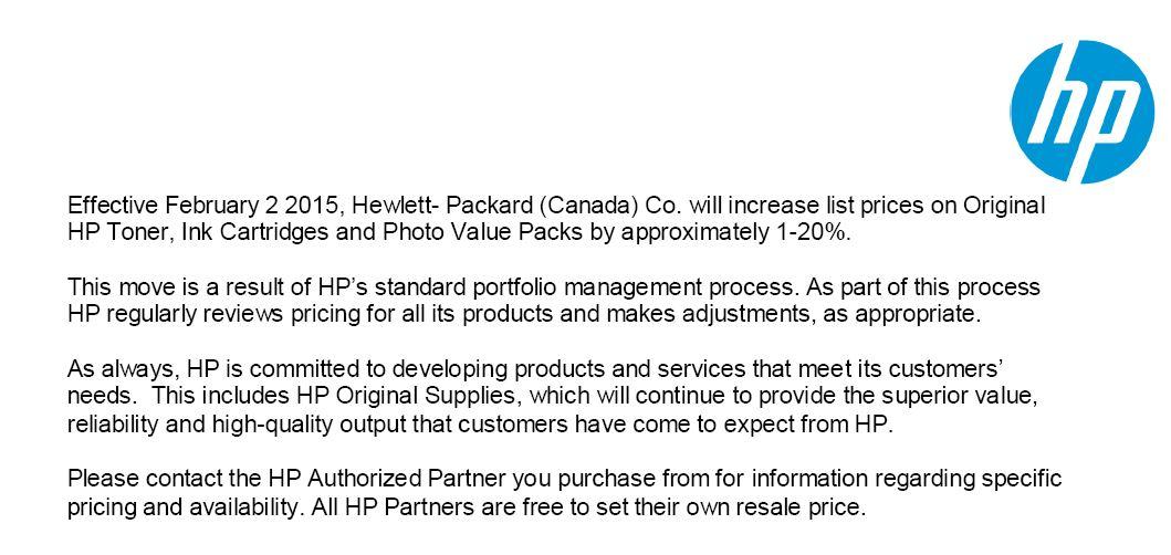 HP_Price_Increase_Notice_Jan_2014