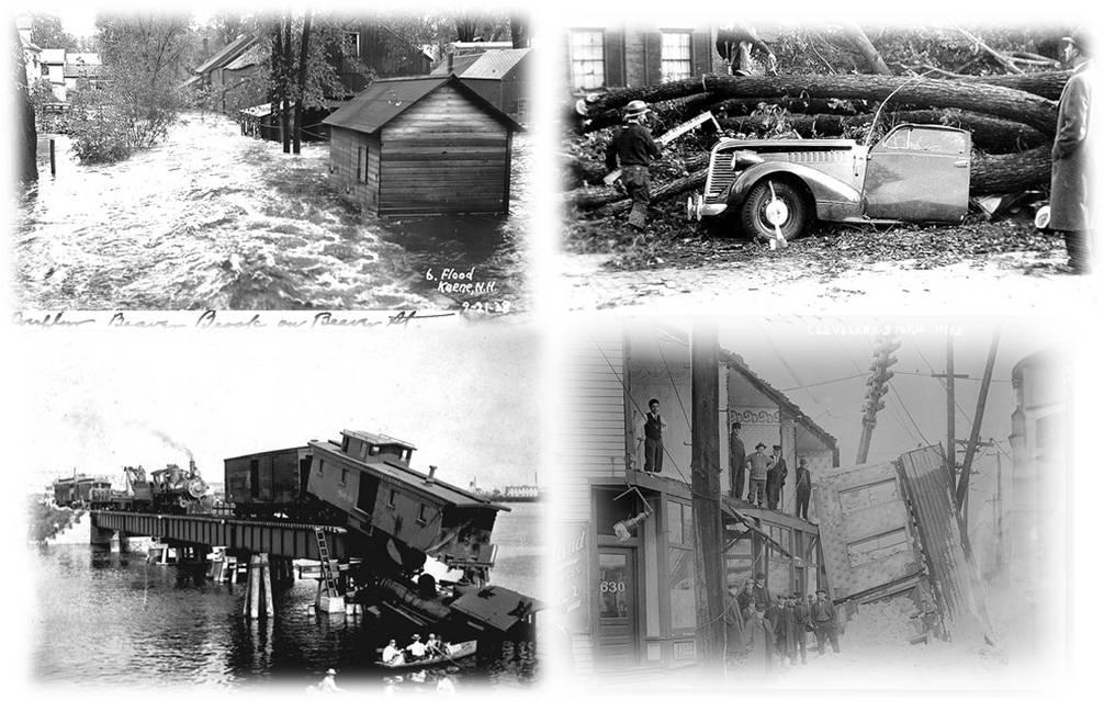 Floods, Ice Storms, Hurricanes, Train Wrecks