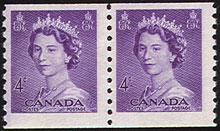 Canada 4 cent Stamp 1953 Queen Elizabeth II