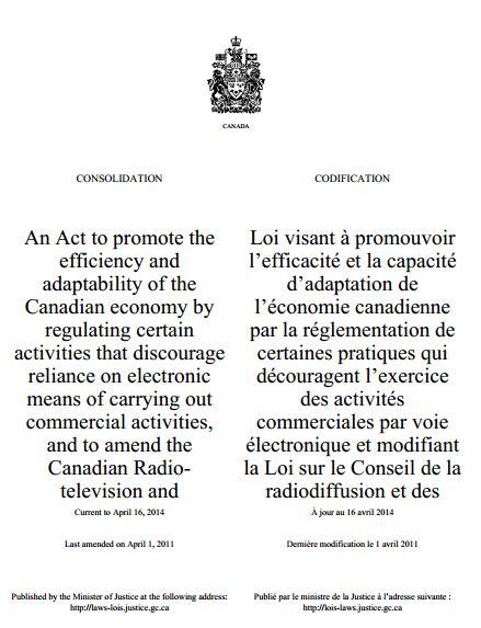 Canadian AntiSpam Legislation CASL  Becomes Effective July 1 resized 600