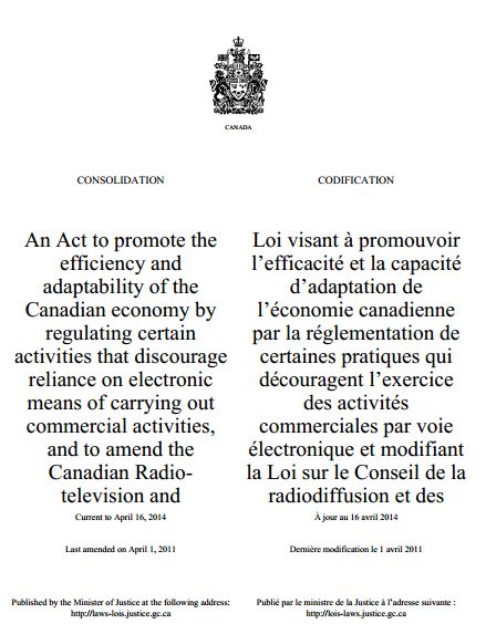 Canadian AntiSpam Legislation CASL  Becomes Effective July 1 resized 600