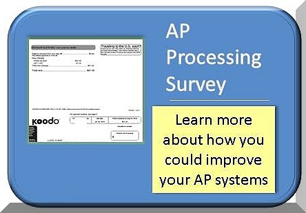 Take this short survey to see if AP procesing could assist you
