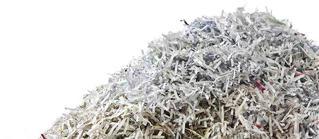 We'll turn your paper into a pile of shredded paper like this with our Secure and Confidential Document Shredding service in Burlington ON Canada